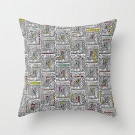 Log Cabin Pattern Throw Pillow