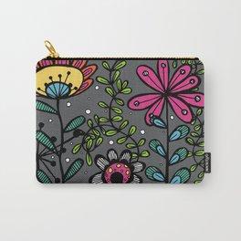 Weird and wonderful (Garden) - fun floral design, nature, flowers Carry-All Pouch