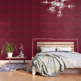 White Dots on Red Wallpaper