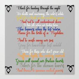 Shadowhunter rhymes Canvas Print