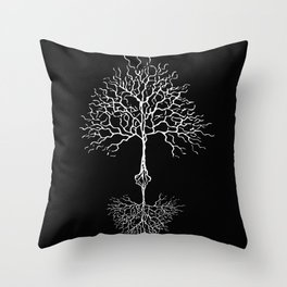 Tree of life meaning black Throw Pillow
