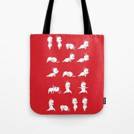 Yoga Bear - Polar Bear Tote Bag