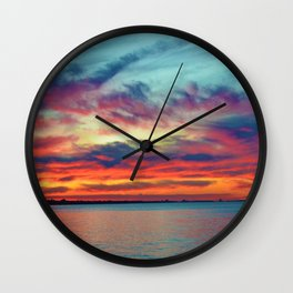 Sunset on Lake St. Clair in Belle River, Ontario Wall Clock
