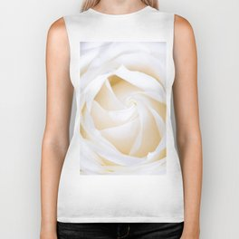 White rose flower Biker Tank