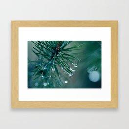 Water droplets Framed Art Print