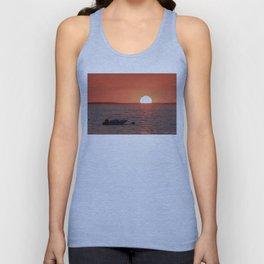 Plum Cove Beach Sunset 7-11-18 Unisex Tank Top