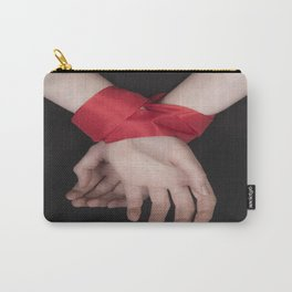 Red Ribbon Carry-All Pouch
