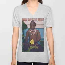 Vintage Kauai Buddha Unisex V-Neck