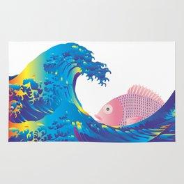 Hokusai Rainbow & Jpanese Snapper  Rug