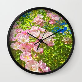 Sun Soaked Roses Wall Clock