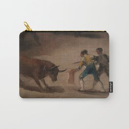 Bullfight in a Divided Ring Carry-All Pouch