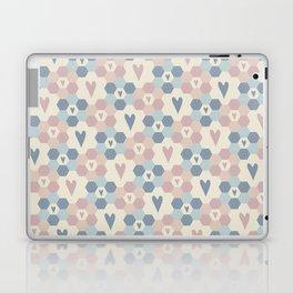 Hexagon Flowers Laptop & iPad Skin
