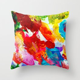 The Colors of my Life Throw Pillow