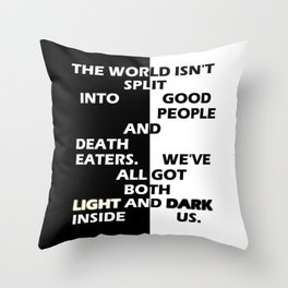 Good People and Death Eaters Throw Pillow