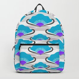 Turquoise Deco Fan Backpack