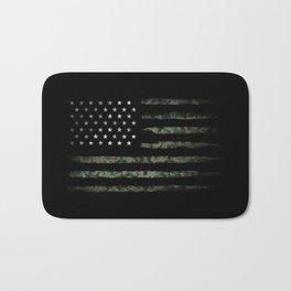 Khaki american flag Bath Mat
