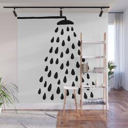 Shower in bathroom Wall Mural