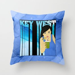 Drink Up in Key West Throw Pillow