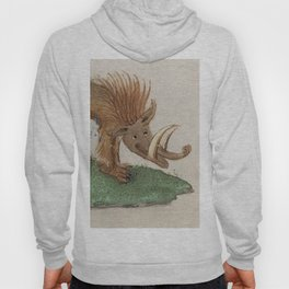 Medieval wild boar or warthog Hoody