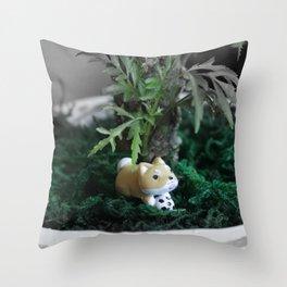 Shiba Inu Jungle 2 Throw Pillow
