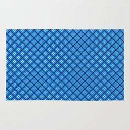 Blue Elegant Shapes Rug