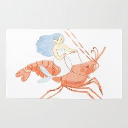 The Magnificent Shrimp Rider Rug