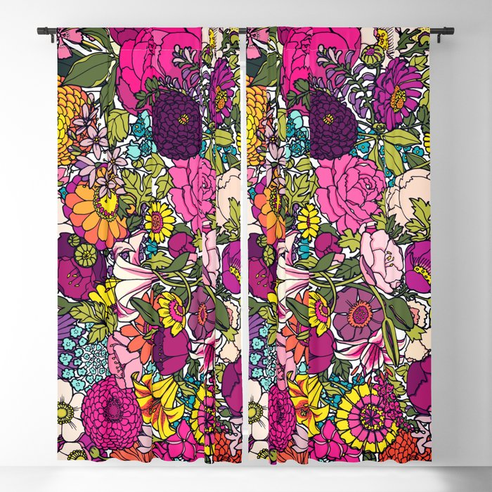 Summer garden Blackout Curtain