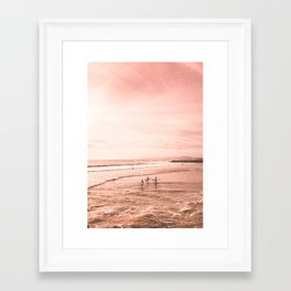 Surfing Framed Art Print