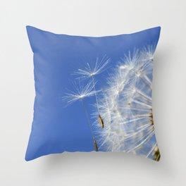 Dandelion Clock Throw Pillow