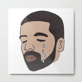 drake crying Metal Print