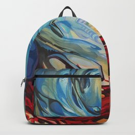 Red Blue Swirl Backpack