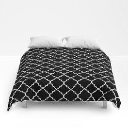 Black and White Moroccan Quatrefoil Comforters
