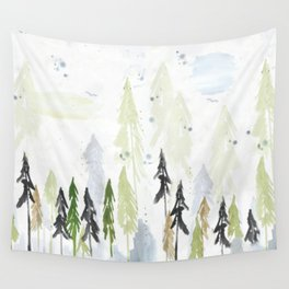 Into the woods woodland scene Wall Tapestry