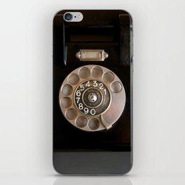 OLD BLACK PHONE iPhone Skin