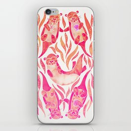 Five Otters – Pink Ombré iPhone Skin