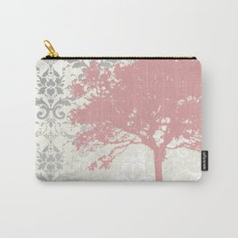 Tree Silhouette & Damask Backdrop Carry-All Pouch