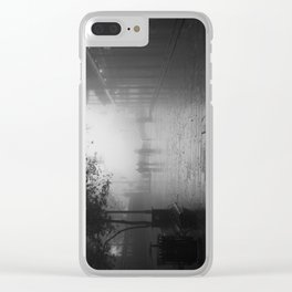 New Orleans on a foggy day Clear iPhone Case