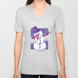 Snowman Dab Unisex V-Neck