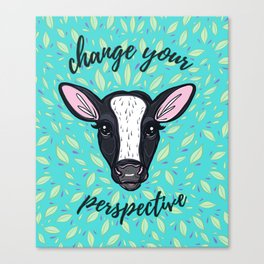 Change Your Perspective White Blaze Canvas Print