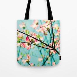 Aqua Spring Tote Bag