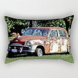 1952 Plymouth Cranbrook Seen Better Days Rectangular Pillow