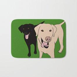 Tanner and Lily Best Labrador Buddies Bath Mat