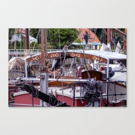 Ship deck Canvas Print