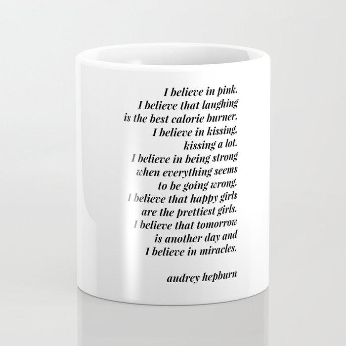 Audrey Hepburn quote Coffee Mug