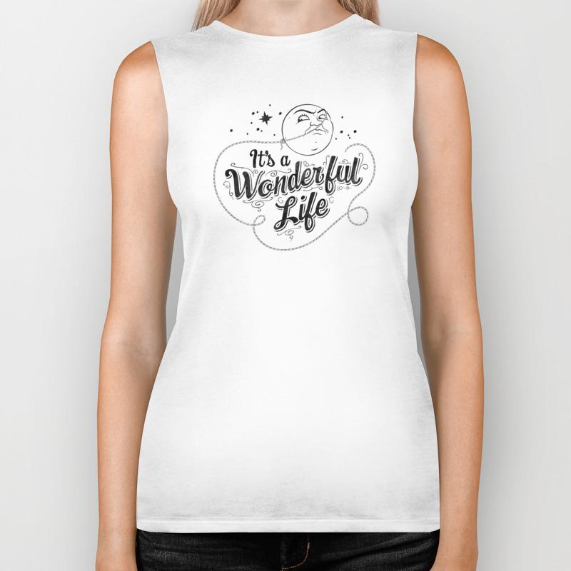 It's A Wonderful Life 2 Biker Tank by Graphicsbyhand BKT8679306