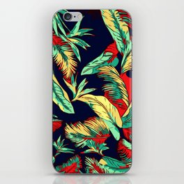 Madagascar Exotic Leaves Midnight iPhone Skin