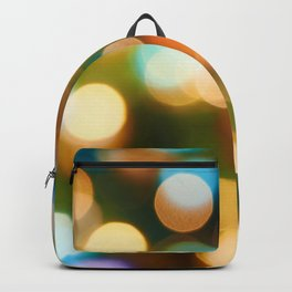 Abstract holiday Christmas background with blue and yellow Backpack