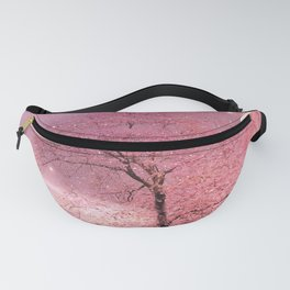 Surreal Fantasy Fairy Tale Pink Nature Trees Stars Full Moon Fanny Pack