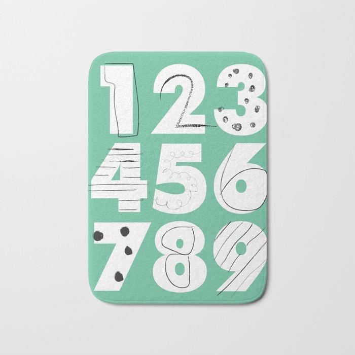 Funky Numbers Bath Mat