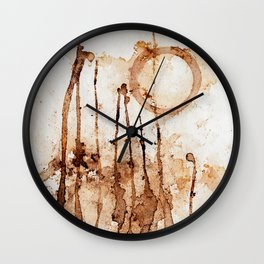 Coffee Stains Wall Clock